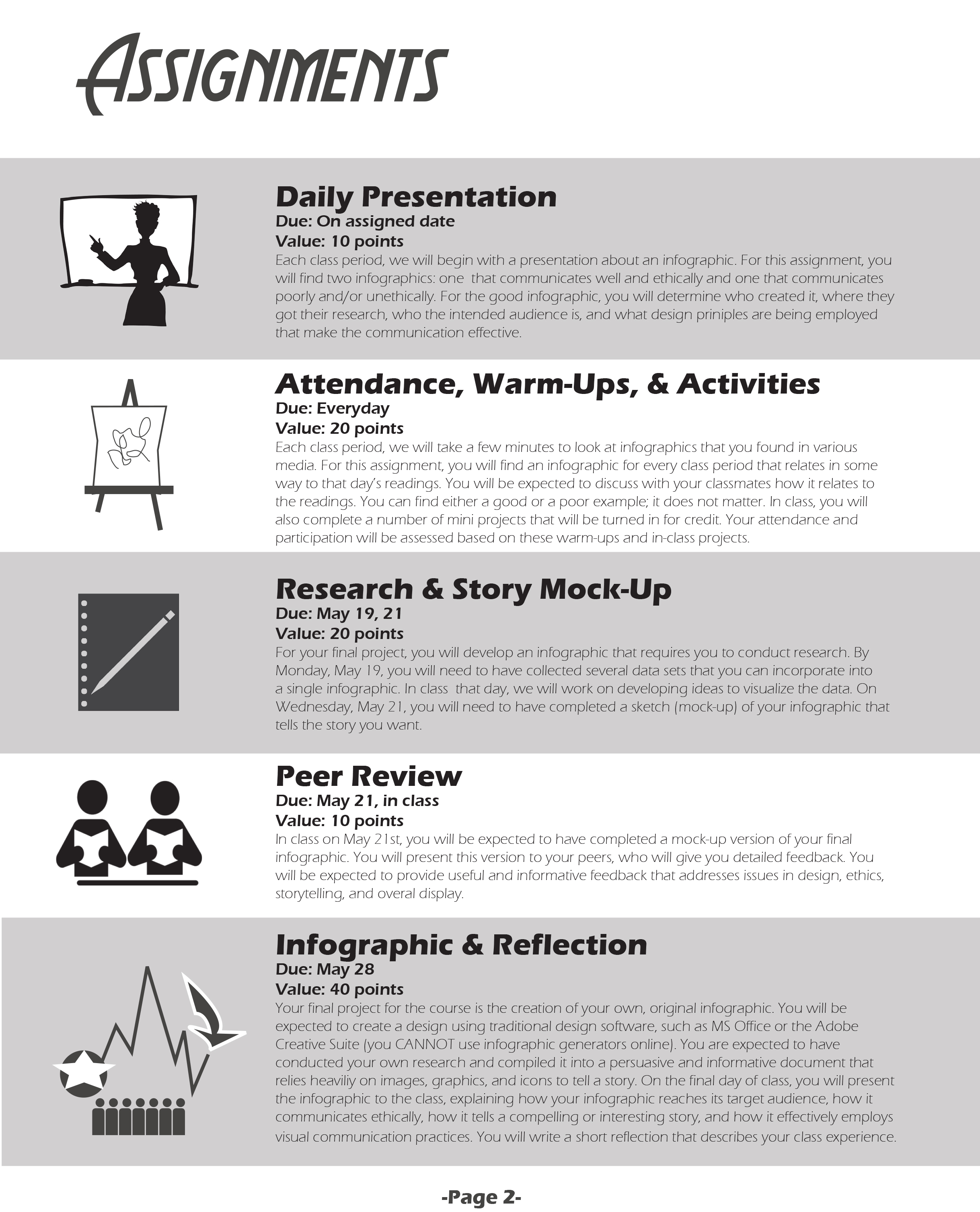 Would a course syllabus be better as an infographic the for Create a syllabus template