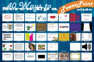 40 Ways to Screw Up a PowerPoint Slide (Infographic)