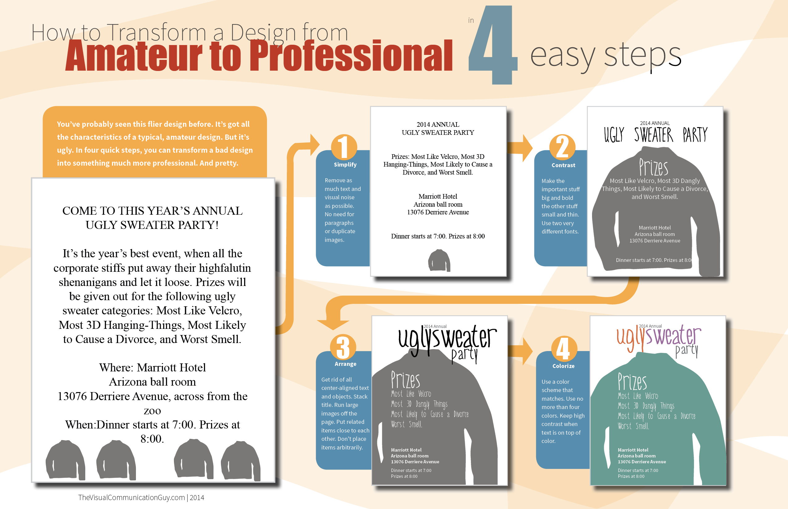 How to transform a design from amateur to professional in four easy steps