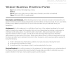 WeeklyReadingPositionPaper