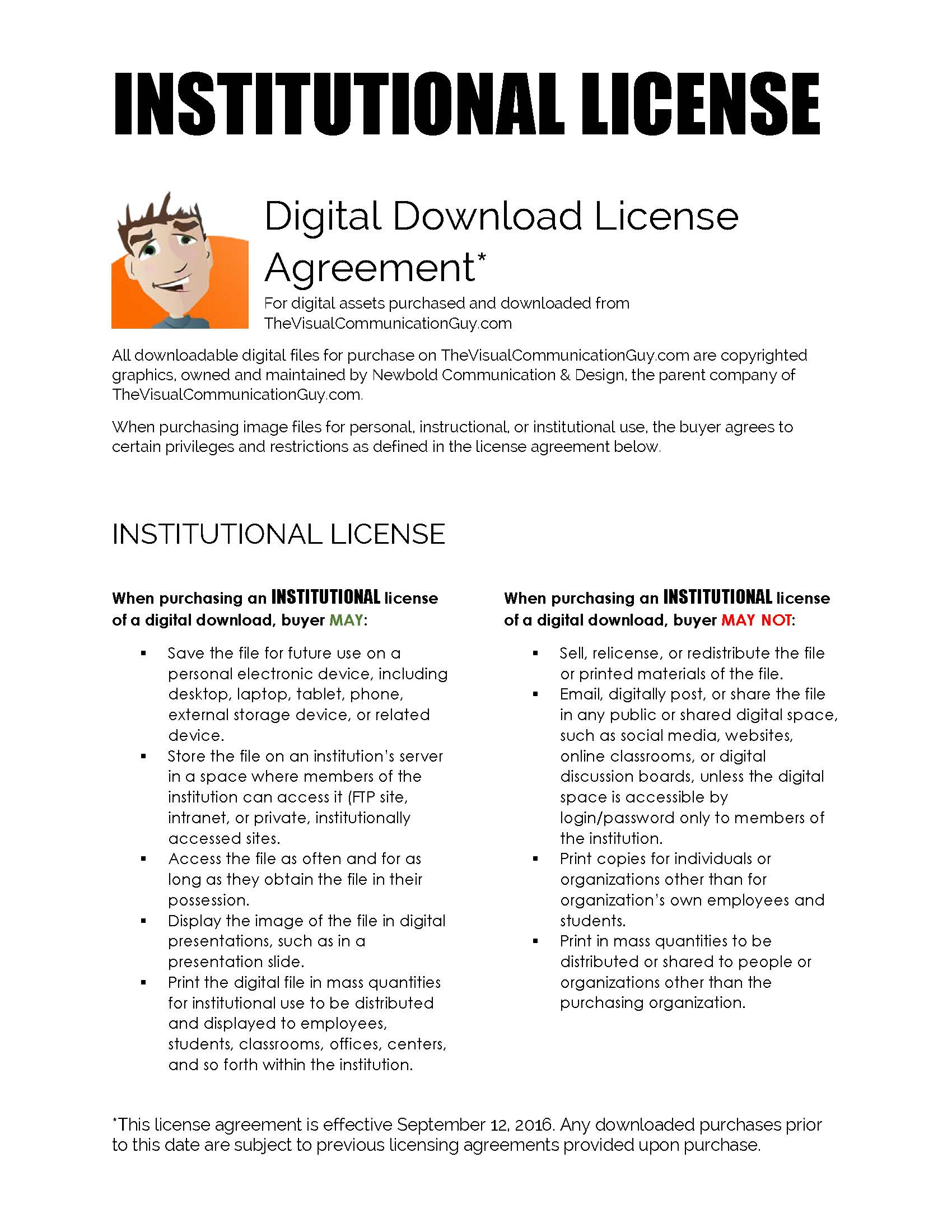 Institutional License Agreement