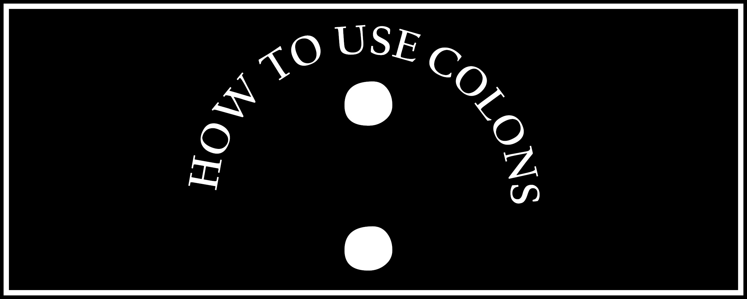 how-to-use-colon-banner