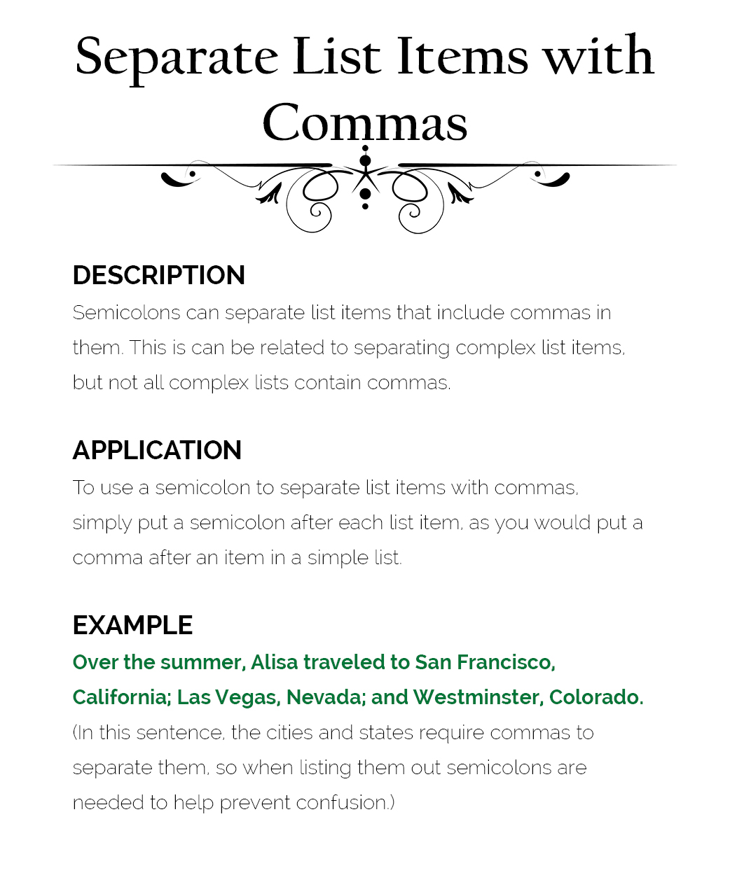 semicolon-use-3-separates-list-items-with-commas