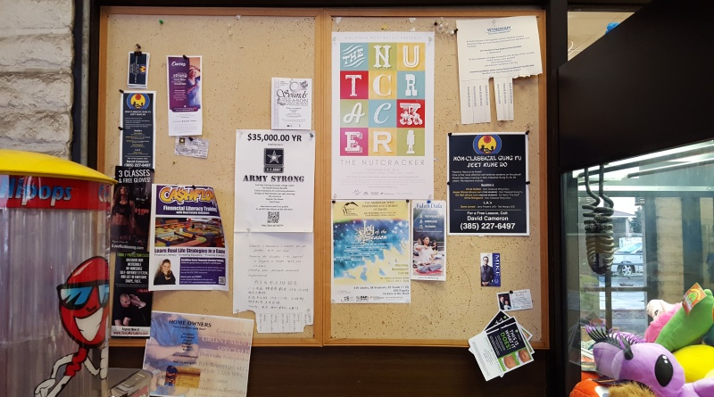 Local Bulletin Board with Fliers--How to Design a Flier