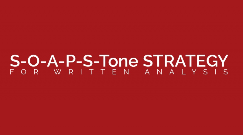 soapstone strategy for written analysis the visual communication  soapstone strategy for written analysis the visual communication guy designing writing and communication tips for the soul