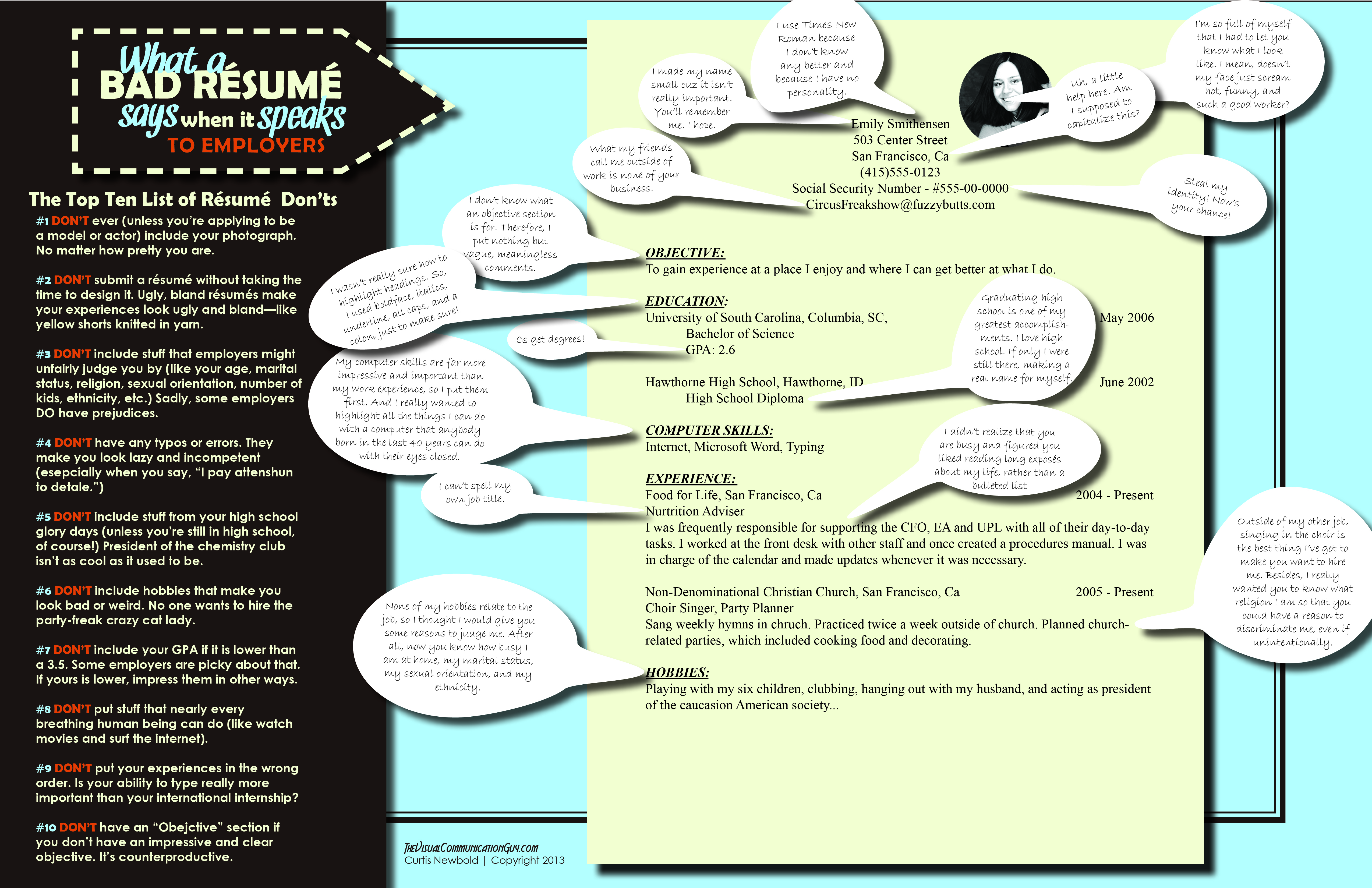 What A Bad Resume Says When It Speaks The Visual Communication Guy