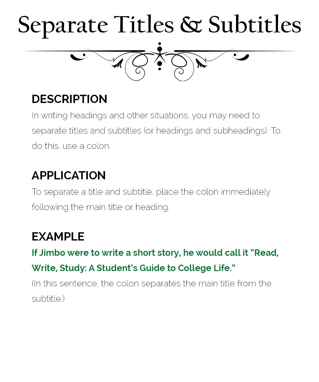 how to use colons  u2013 the visual communication guy