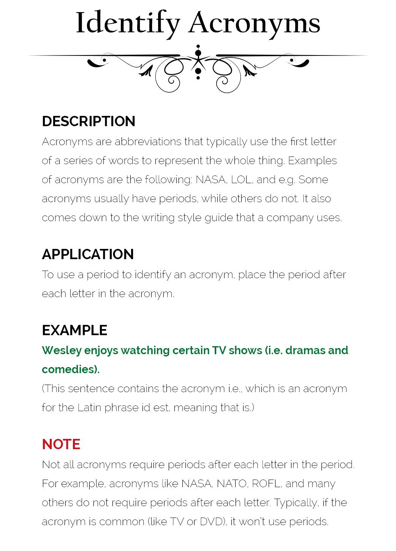 acronym sentence examples