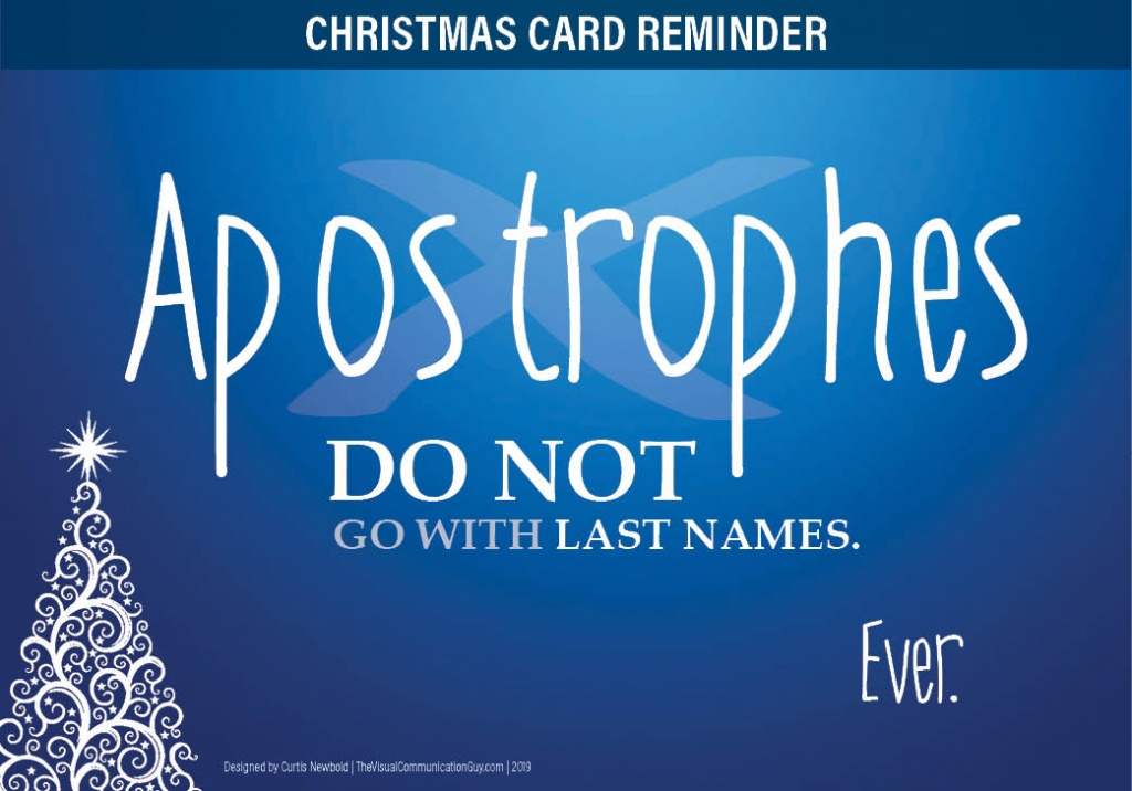 Christmas Cards And Apostrophes In Your Last Name Don T Belong Together Here S Why The Visual Communication Guy