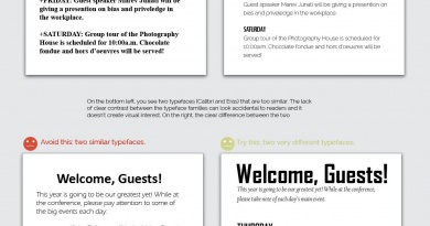 Contrast Rule: Contrast the Typefaces