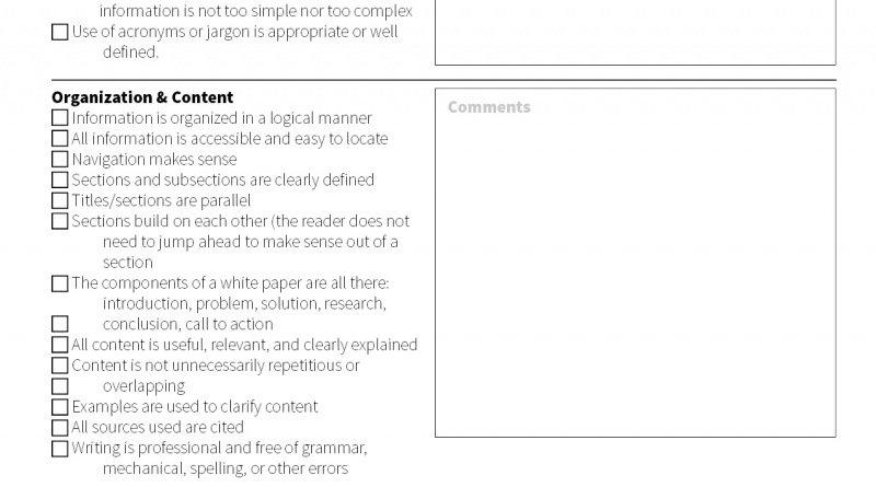 Interactive PDF Peer Review Checklist The Visual Communication Guy Designing Writing And Tips For Soul